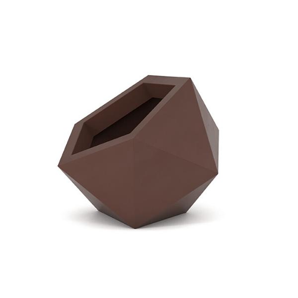 Donica asymetryczna Dione 53 cm, czekolada